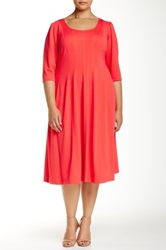 Robbie Bee Textured Scoop Neck Dress Plus Size Pink