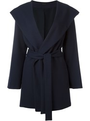 The Row Belted Shawl Collar Coat Blue