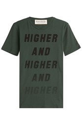 Etre Cecile Printed Cotton T Shirt Green