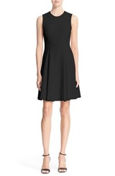 Women's Theory 'Tespa' Crepe Fit And Flare Dress Black