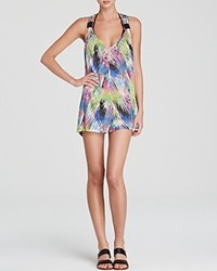 Milly Marble Print Tunic Swim Cover Up Multi