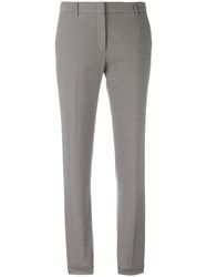 Incotex Slim Fit Long Trousers Grey