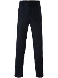 Moncler Classic Straight Leg Trousers Black