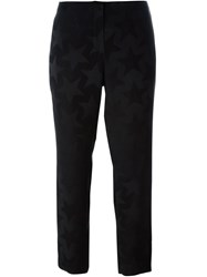 Equipment Star Print Cropped Trousers Black