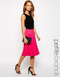 True Decadence Petite Pleated Midi Skirt Pink