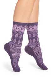 Smartwool Women's Lace Pattern Crew Socks Mountain Purple