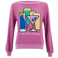 Wildfox Couture Wildfox Women's Brunch Time For Another Sweatshirt Lavender Dream Purple