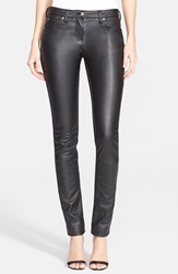 Roberto Cavalli Front Coated Skinny Jeans Dark Blue