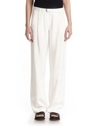 Atm Anthony Thomas Melillo Belted Wide Leg Pants Cream