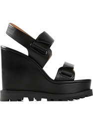 Marc By Marc Jacobs 'Street Stomp' Wedge Sandals Black