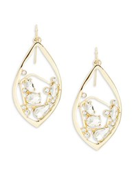 Rj Graziano Marquis Cluster Drop Earrings Gold