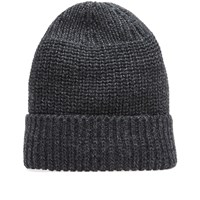 Wings Horns Knit Watch Cap Grey