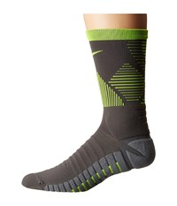 Nike Strike Mercurial Soccer Dark Grey Volt Volt Crew Cut Socks Shoes Gray