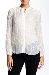 3J Workshop Silk Eyelet Blouse White