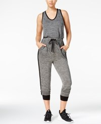 Material Girl Active Juniors' Racerback Jumpsuit Only At Macy's Heather Charcoal