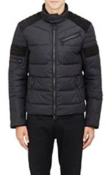 Ralph Lauren Black Label Suede Inset Tech Jacket Black