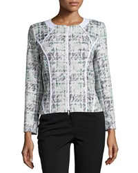 Lafayette 148 New York Brylie Tweed Jacket Frosted Mint