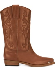 Philippe Model 'Arizona' Cowboy Boots Brown