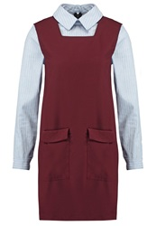 Sister Jane Girl Gang Summer Dress Burgundy Bordeaux