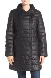 Women's Cole Haan Signature Asymmetrical Quilted Faux Leather Coat