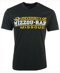 Colosseum Men's Missouri Tigers Verbiage Stack T Shirt Charcoal