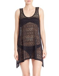 J Valdi Mesh Tank Swim Dress Black