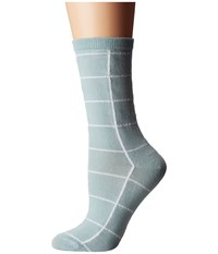 Richer Poorer Lattitude Blue Grey Women's Crew Cut Socks Shoes