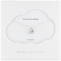 Estella Bartlett Midnight Jungle Elephant Pendant Silver