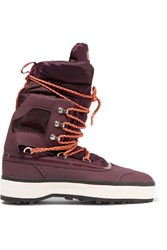 Adidas By Stella Mccartney Nangator Rubber And Quilted Shell Boots Purple