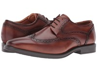 Florsheim Heights Wingtip Oxford Cognac Smooth Men's Lace Up Wing Tip Shoes Neutral