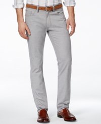 Vince Camuto Linen Pant With Stretch Light Grey