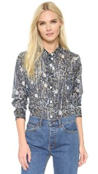 Marc Jacobs Button Up Shirt Blue White