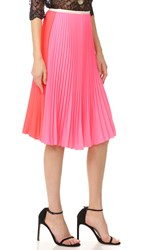 Loyd Ford Pleated Skirt Hot Pink