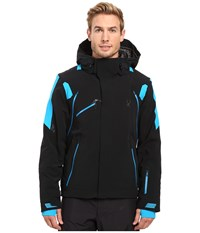 Spyder Garmisch Jacket Black Electric Blue Electric Blue Men's Coat