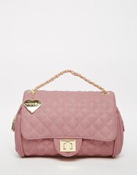 Marc B Quilted Shoulder Bag In Sherbert Pink Sherbet Pink