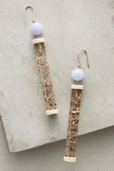 Anthropologie Tangible Cylinder Earrings Rutilated Quartz