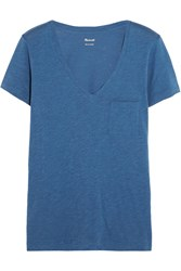 Madewell Slub Cotton Jersey T Shirt Blue