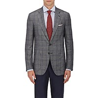 Isaia Men's Plaid Wool Blend Sportcoat Grey