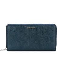 Dolce And Gabbana 'Dauphine' Continental Wallet Blue
