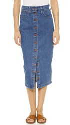 Madewell Denim Midi Skirt Anaheim Wash