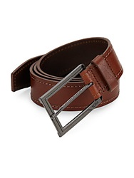 Tumi Stitched Leather Belt Brown