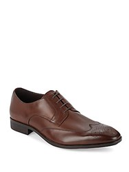 Saks Fifth Avenue Leather Wingtip Oxfords Brown