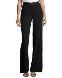 Halston Heritage Wide Leg Trouser Pants W Back Overlay