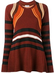 Paco Rabanne Striped Jumper Red
