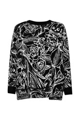 French Connection Tattoo Jumble Knitted Dress Black