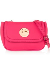 Hill And Friends Happy Mini Textured Leather Shoulder Bag