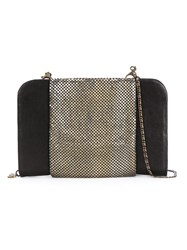 Laura B Mesh Panel Shoulder Bag Black