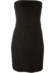 Drome Strapless Fitted Dress Black