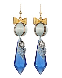 Marquis And Camus Double Drop Vintage Chandelier Earrings Blue