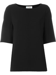 Alberto Biani Scoop Neck Top Black